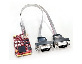 EMP2-X202 mPCIe Serial Card to RS422 & RS485 Module