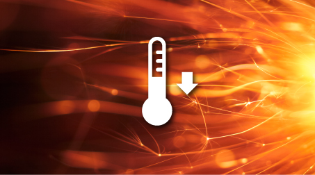 As temperature rises, the risk to your data increases