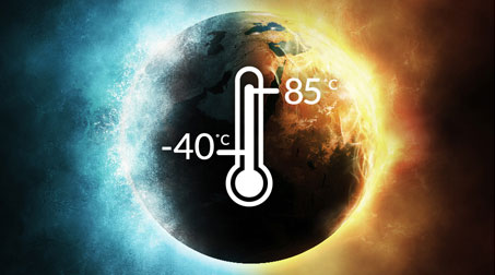 wide temperature operations ranging from −40ºC to 85ºC